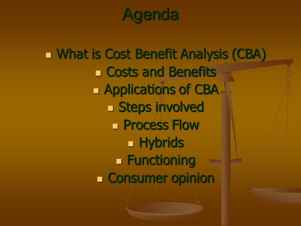 What is Cost Benefit Analysis (CBA)