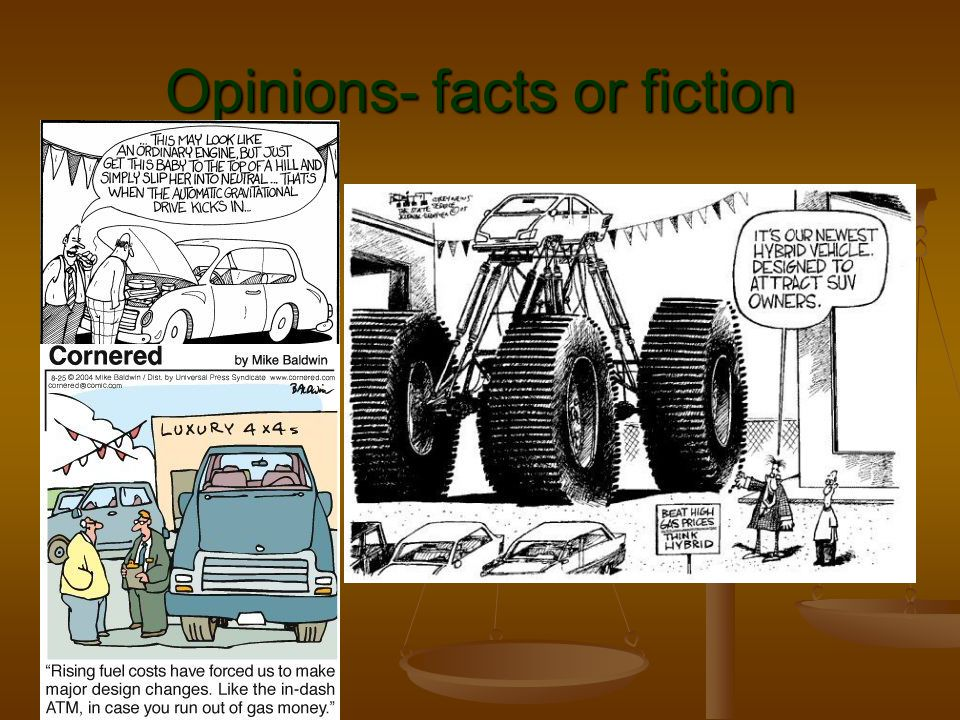Opinions- facts or fiction