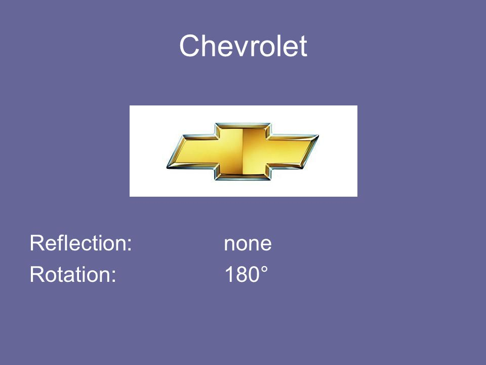 Chevrolet Reflection: none Rotation: 180°