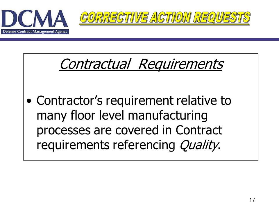 Contractual Requirements