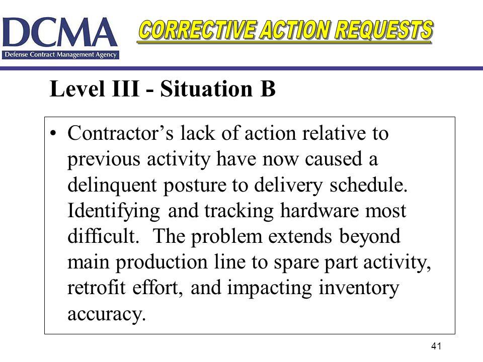 Level III - Situation B