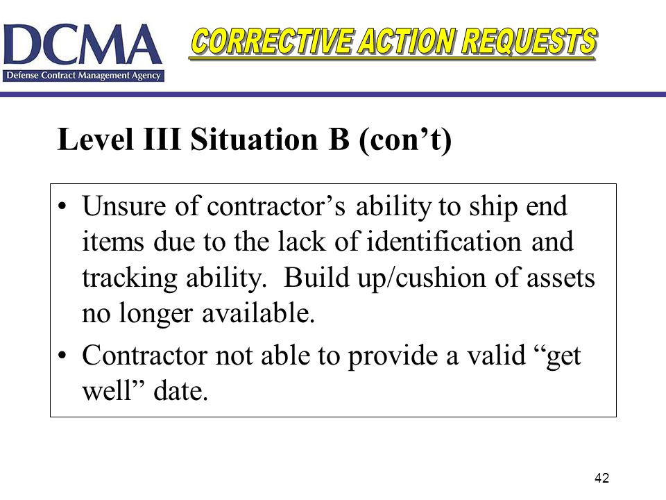 Level III Situation B (con't)