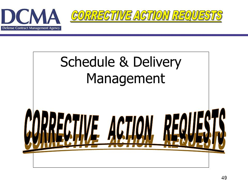 CORRECTIVE ACTION REQUESTS
