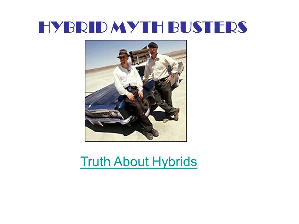 HYBRID MYTH BUSTERS Truth About Hybrids