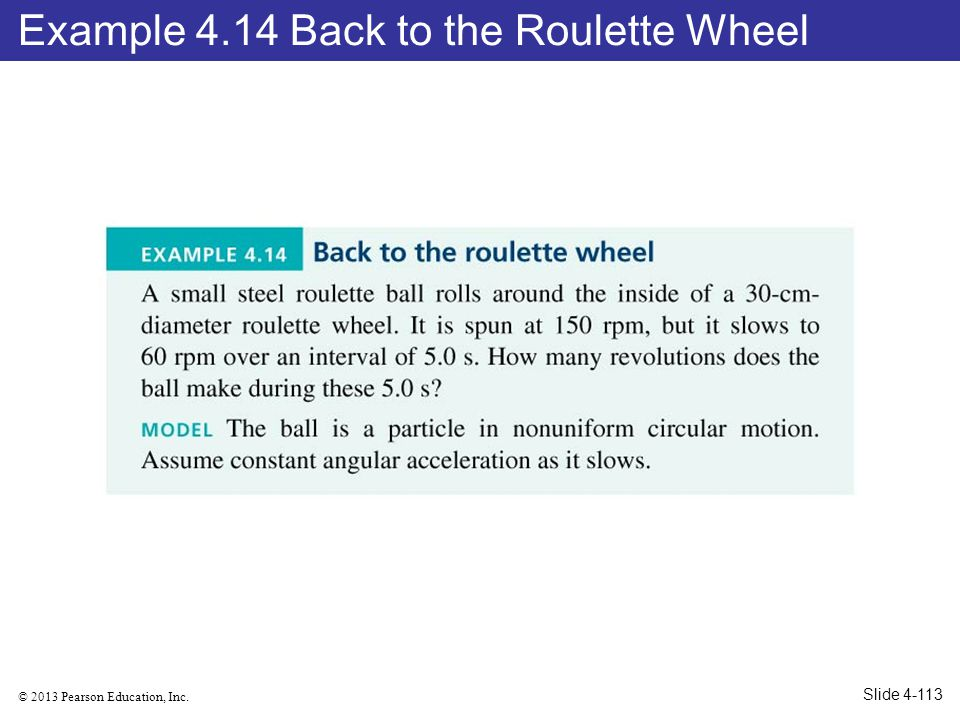Example 4.14 Back to the Roulette Wheel