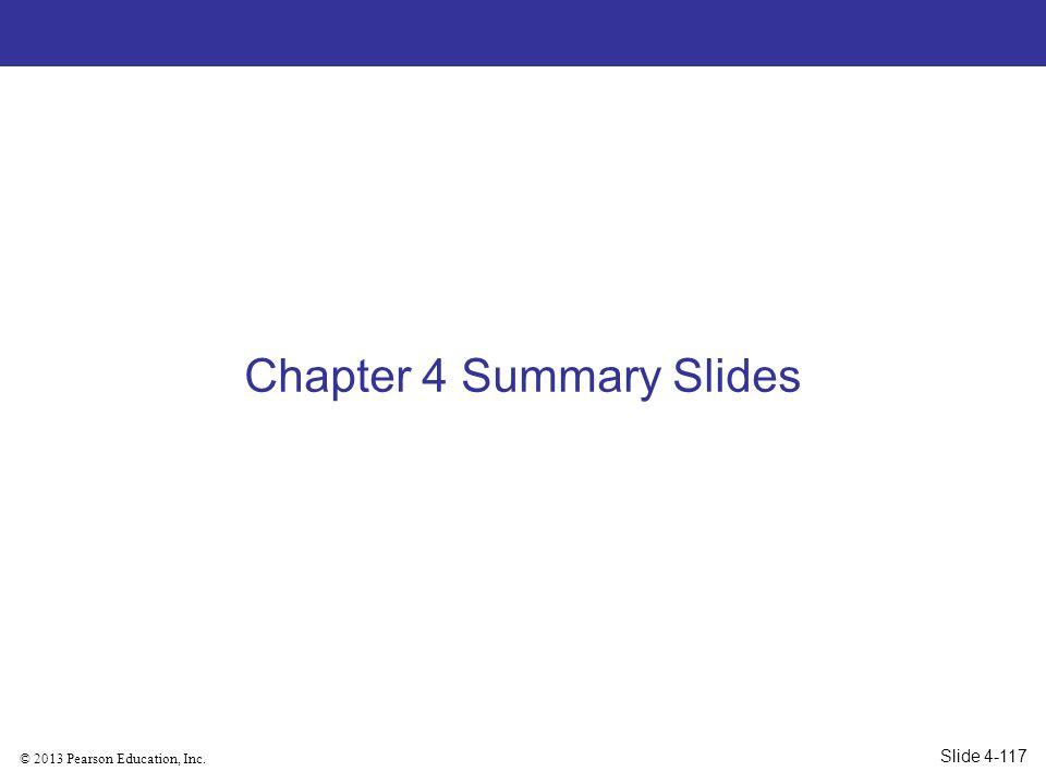 Chapter 4 Summary Slides