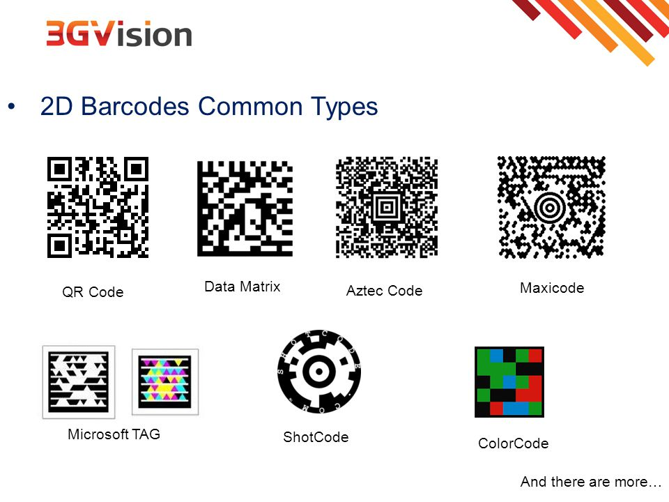 2D Barcodes Common Types