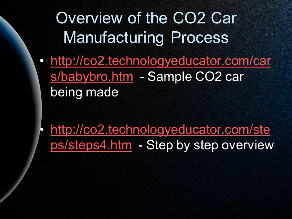 Overview of the CO2 Car Manufacturing Process