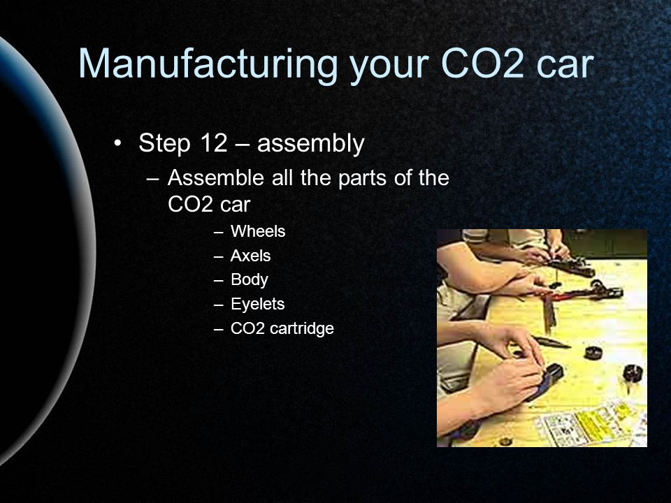 Manufacturing your CO2 car