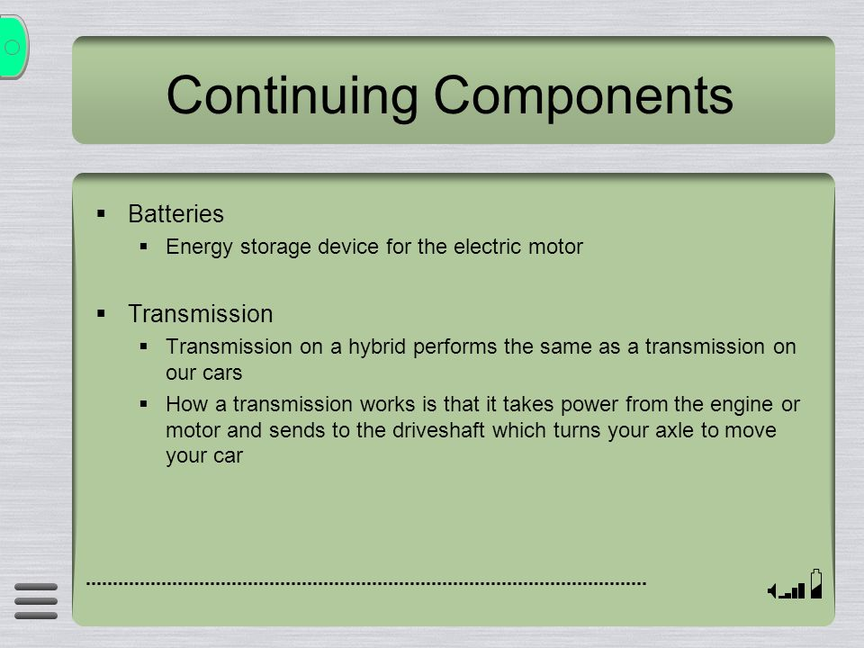 Continuing Components