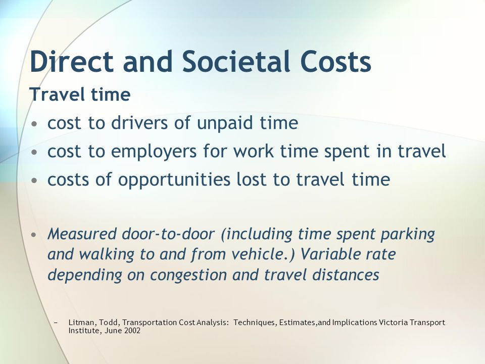 Direct and Societal Costs