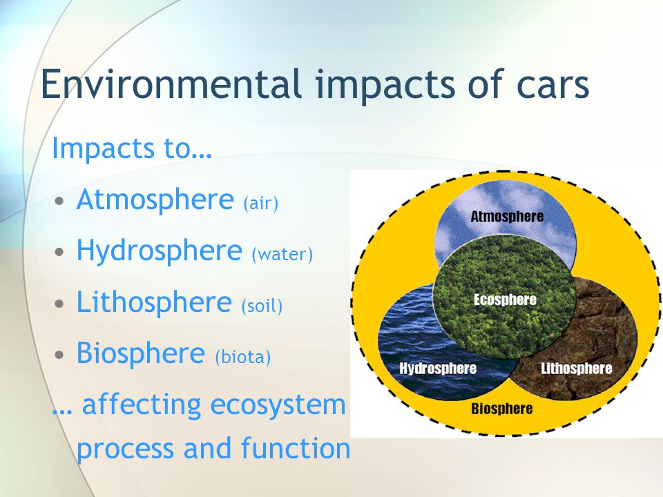 Environmental impacts of cars