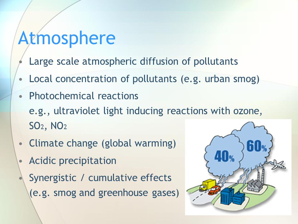 Atmosphere Large scale atmospheric diffusion of pollutants