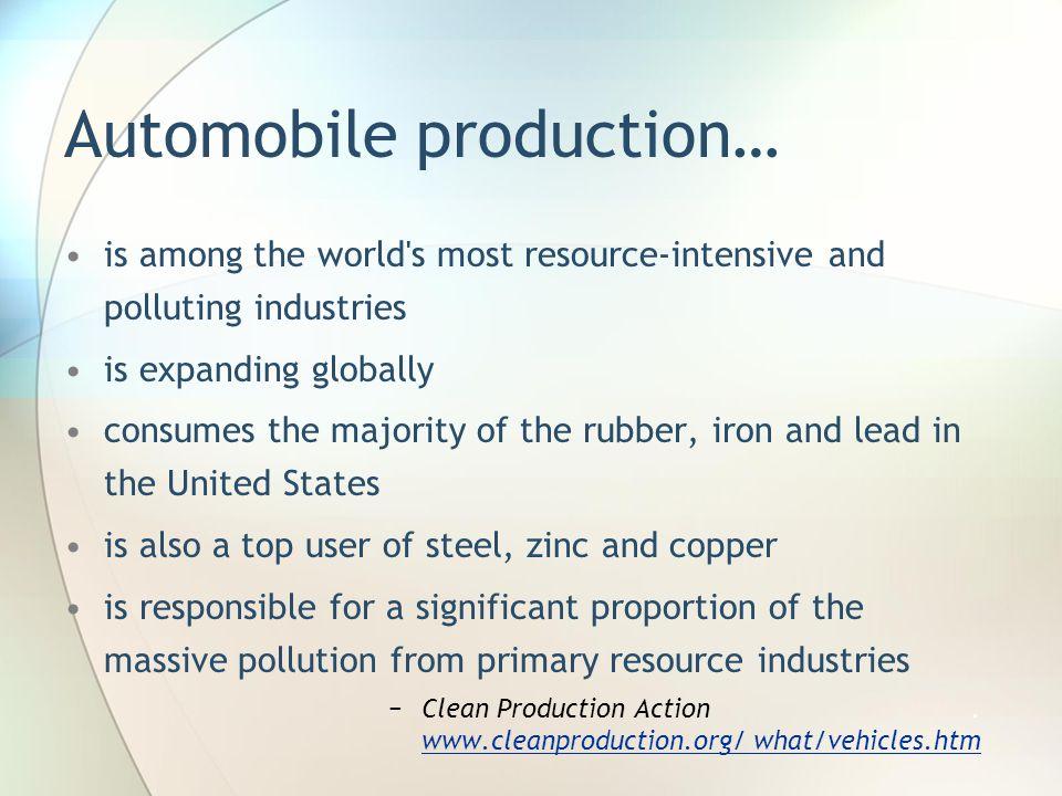 Automobile production…
