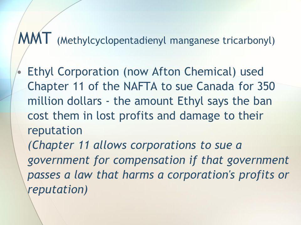 MMT (Methylcyclopentadienyl manganese tricarbonyl)
