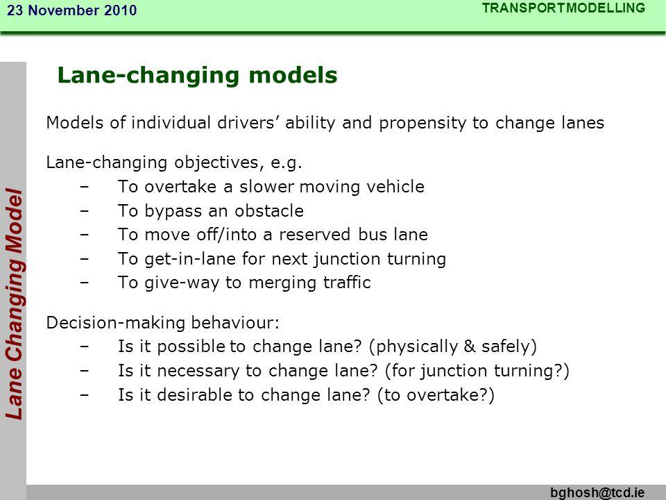 Lane-changing models Lane Changing Model