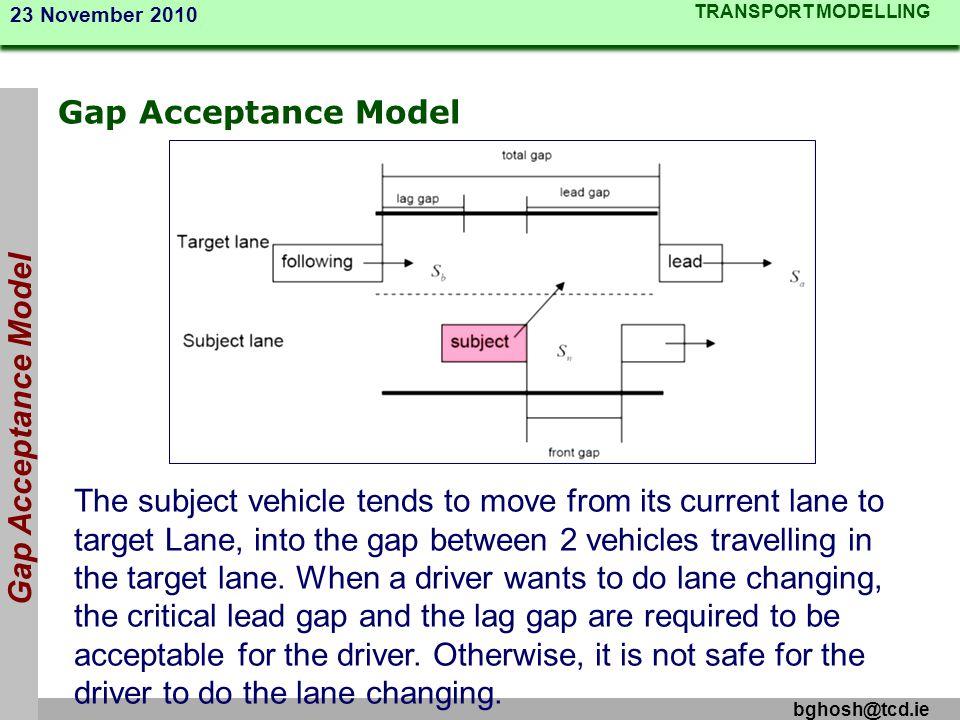 Gap Acceptance Model Gap Acceptance Model.