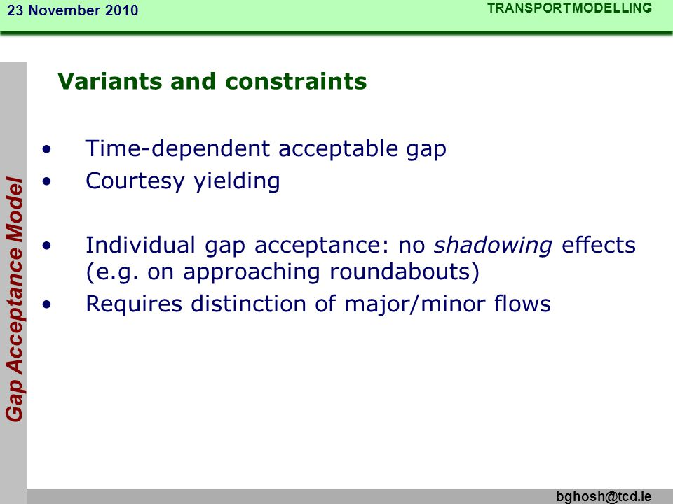 Variants and constraints