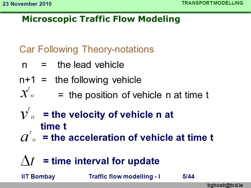 Microscopic Traffic Flow Modeling