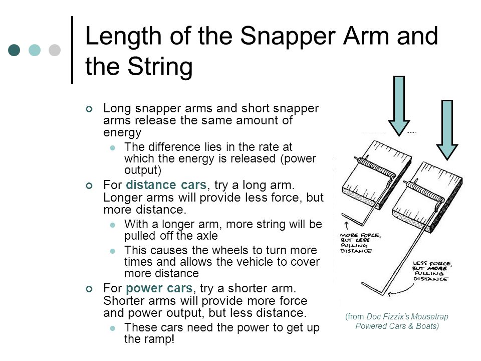 Length of the Snapper Arm and the String