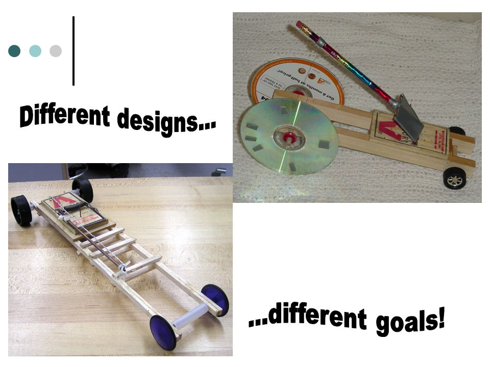 Different designs... ...different goals!
