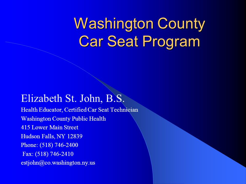 Washington County Car Seat Program