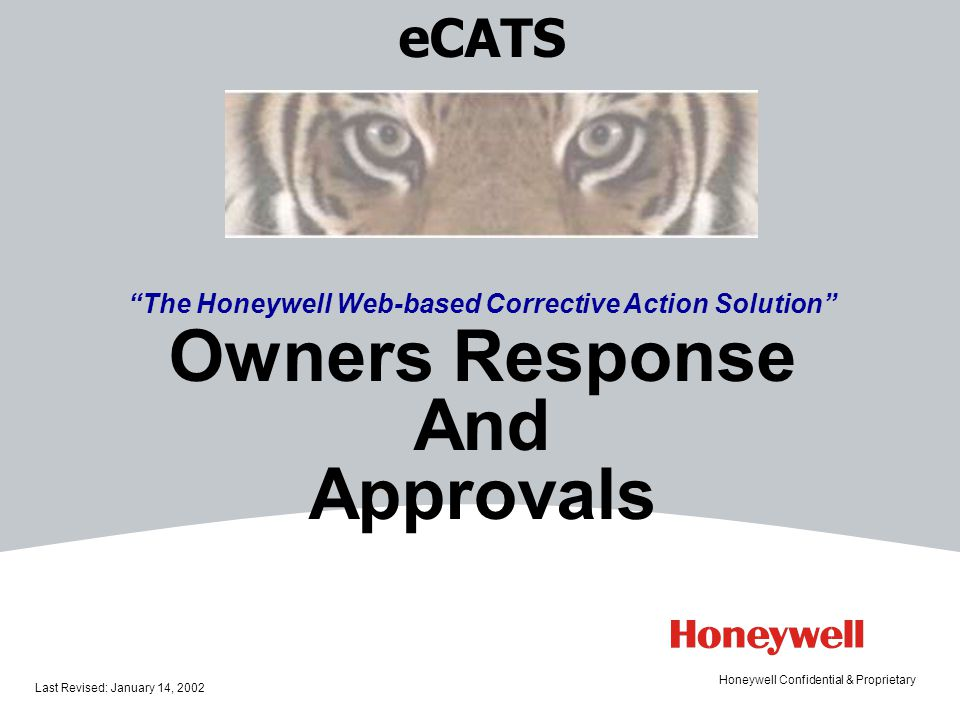 The Honeywell Web-based Corrective Action Solution