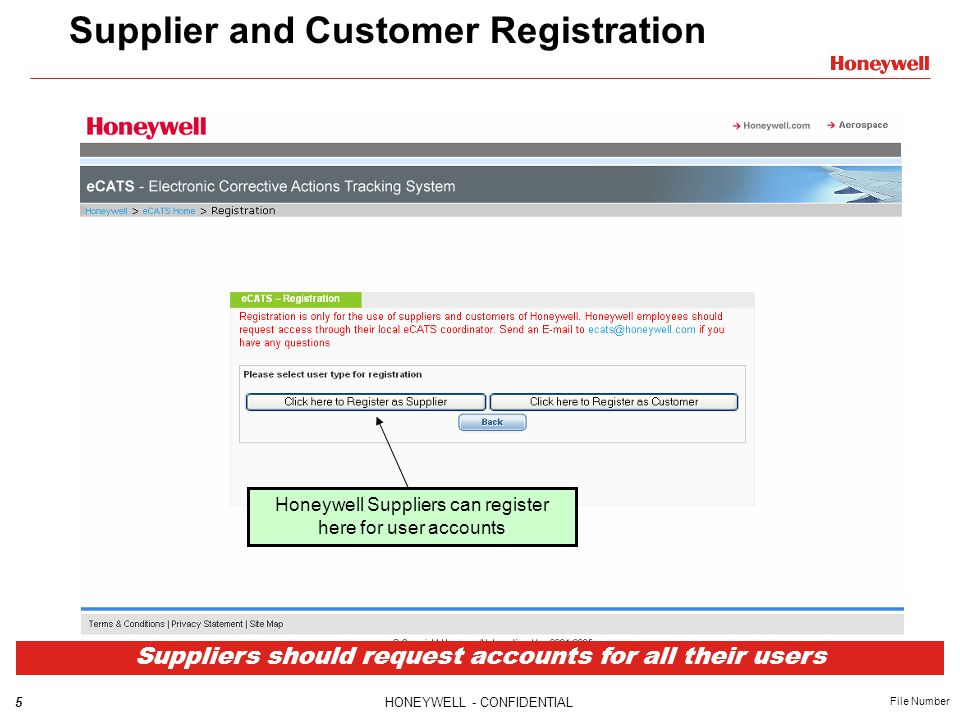 Supplier and Customer Registration