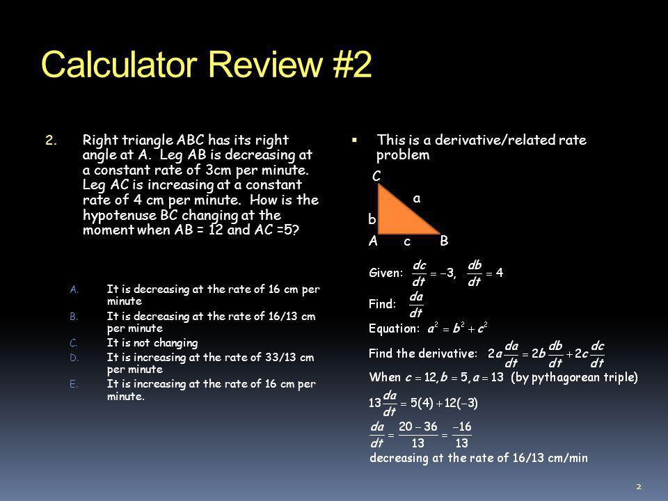 Calculator Review #2