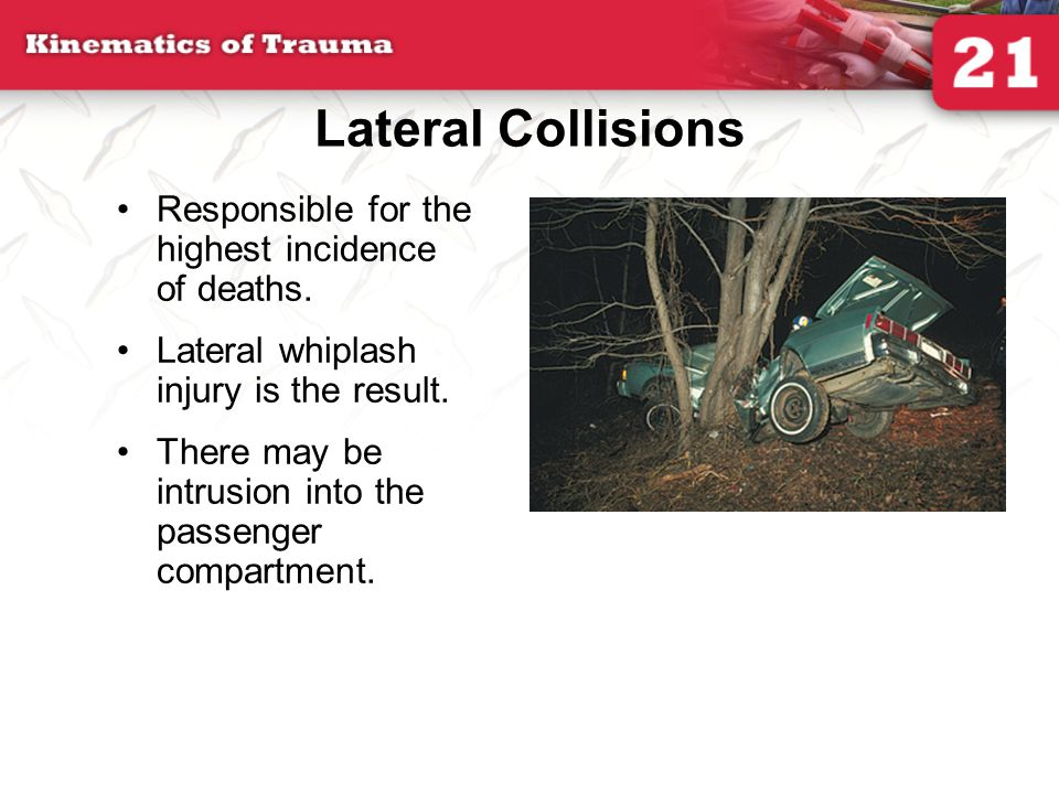 Lateral Collisions Responsible for the highest incidence of deaths.