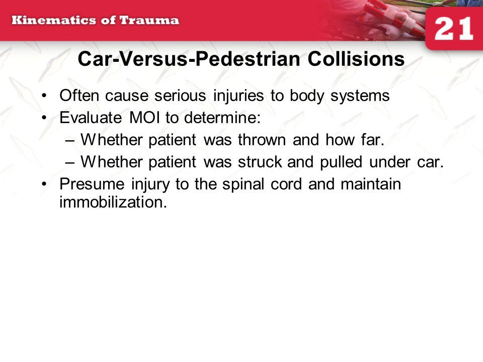 Car-Versus-Pedestrian Collisions