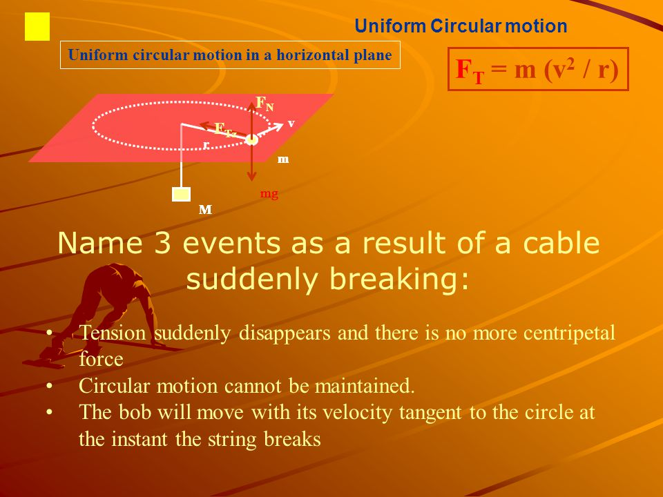 Uniform Circular motion Uniform circular motion in a horizontal plane