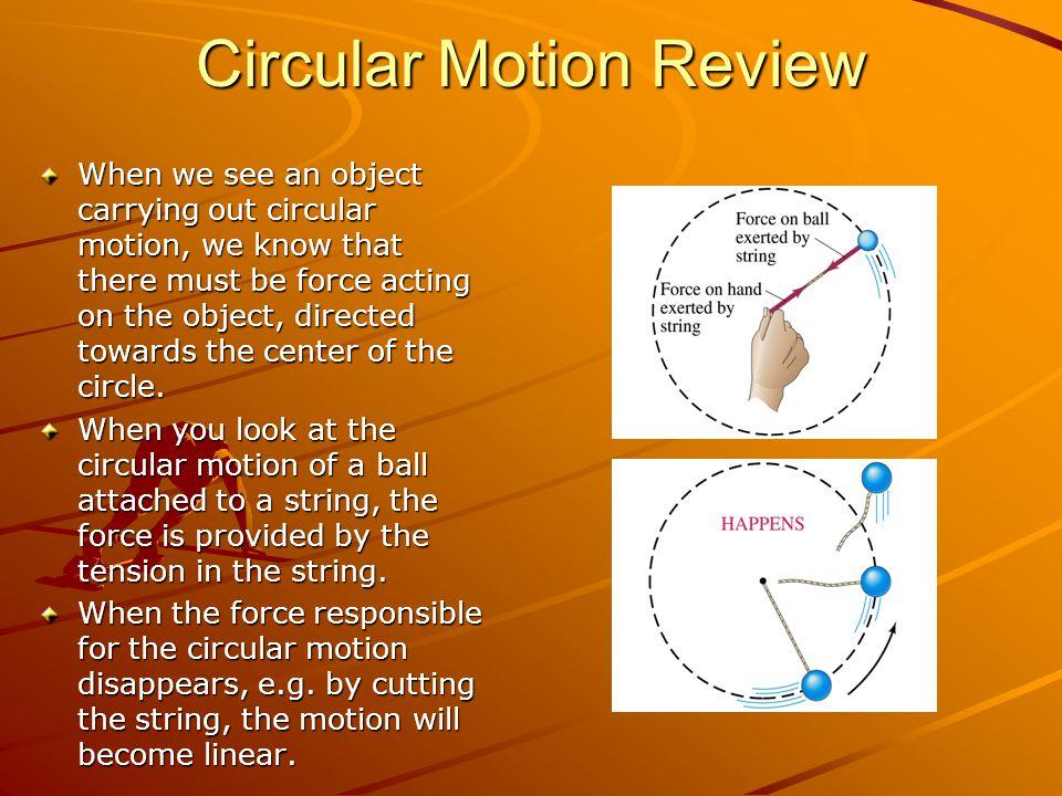 Circular Motion Review