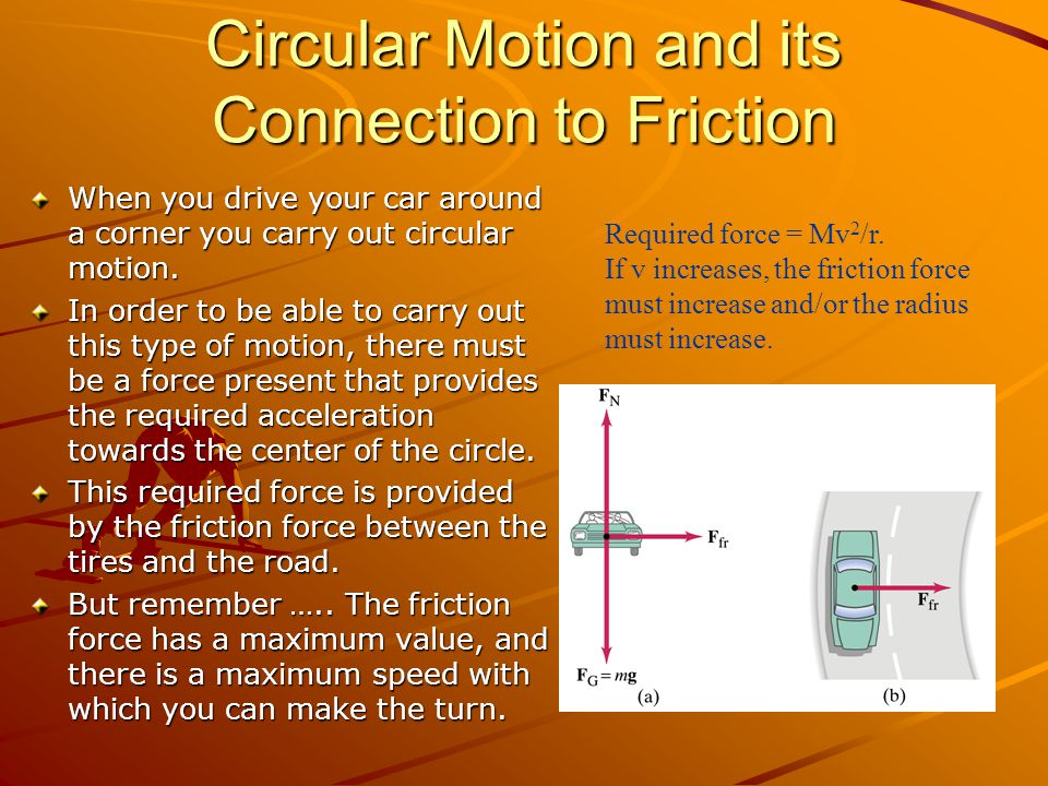 Circular Motion and its Connection to Friction