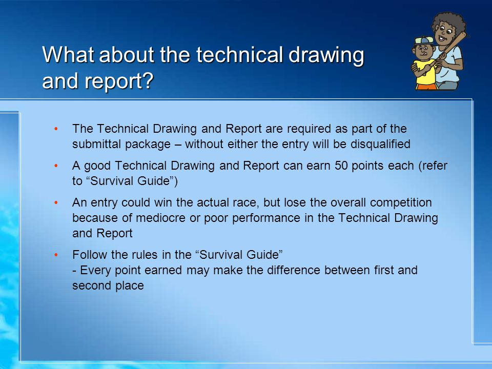 What about the technical drawing and report