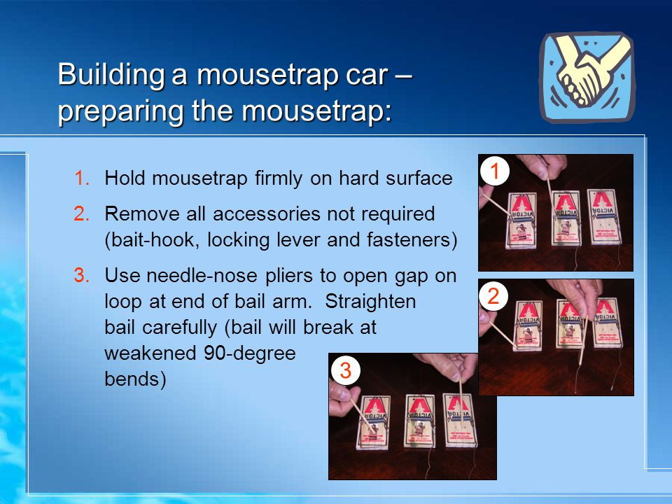 Building a mousetrap car – preparing the mousetrap: