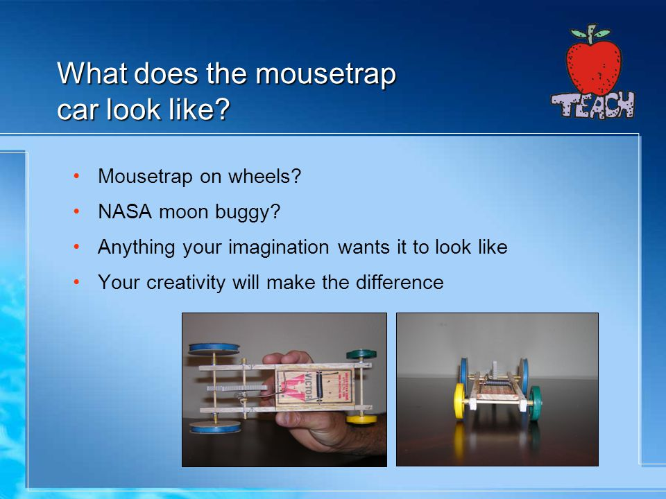 What does the mousetrap car look like