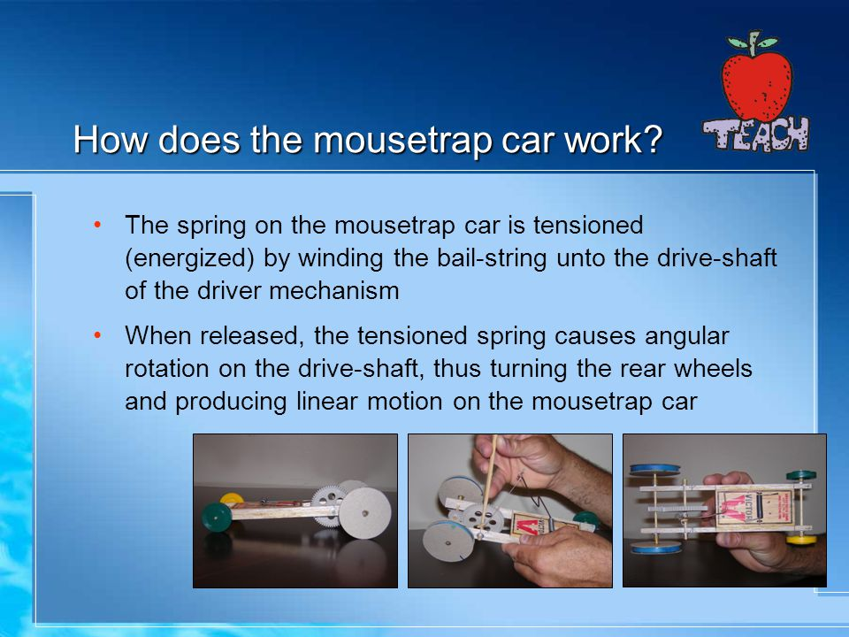How does the mousetrap car work