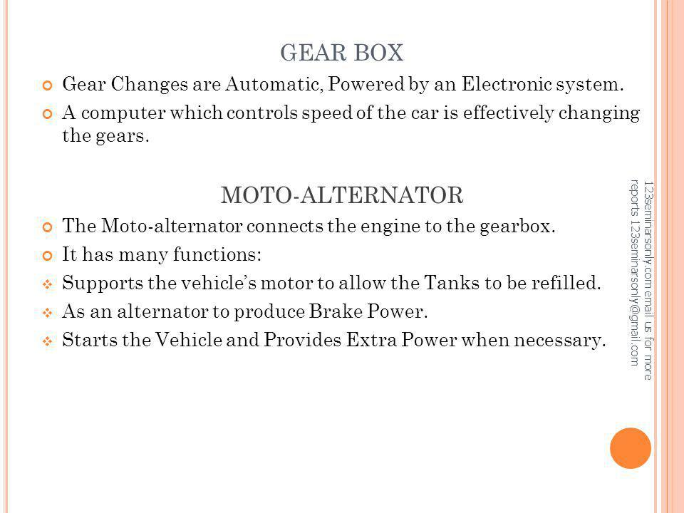 GEAR BOX MOTO-ALTERNATOR