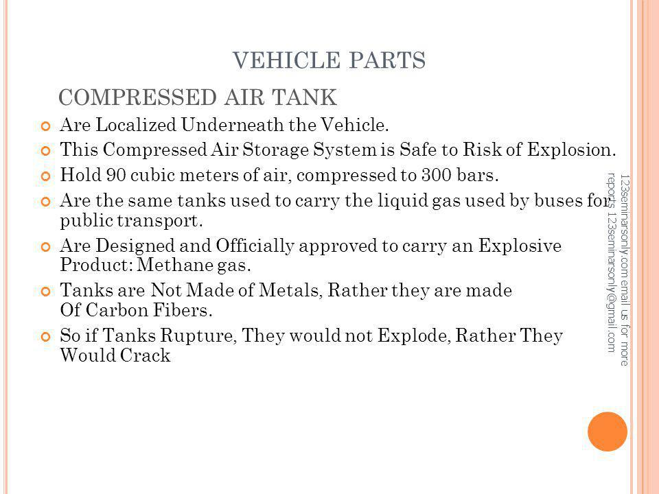 VEHICLE PARTS COMPRESSED AIR TANK