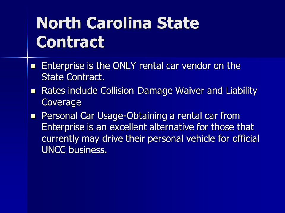 North Carolina State Contract
