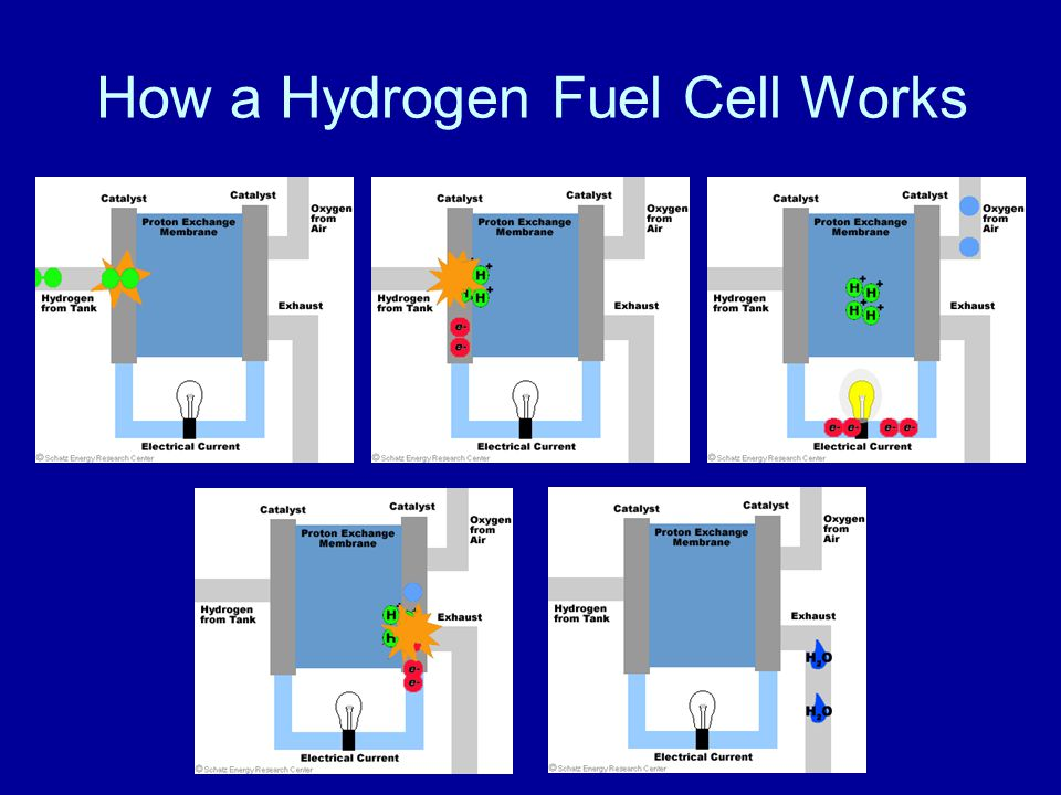 How a Hydrogen Fuel Cell Works