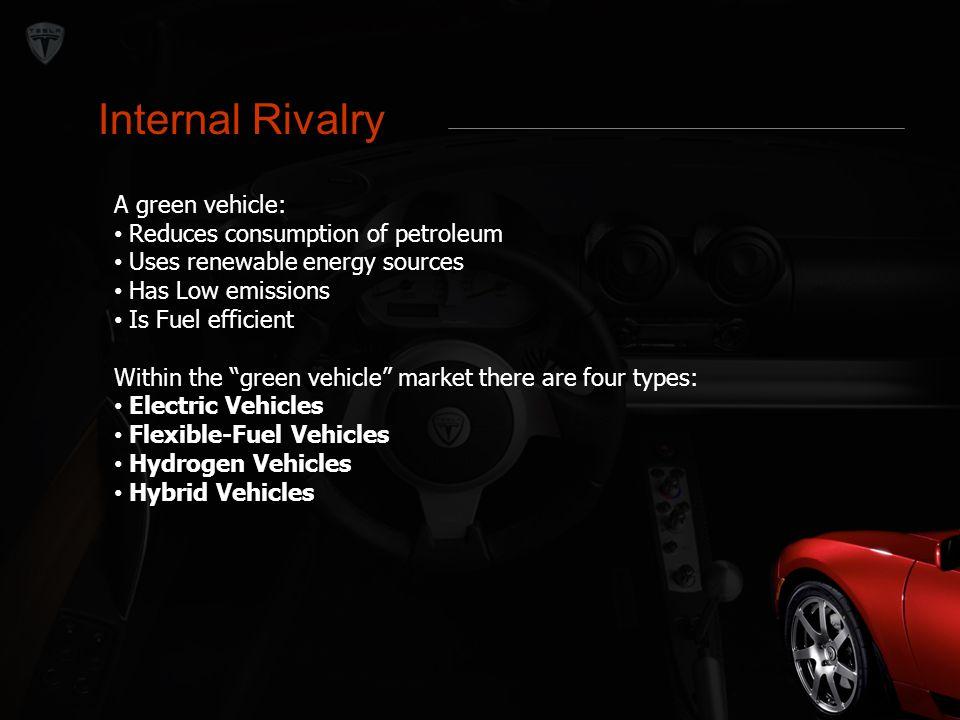 Internal Rivalry Internal Rivalry A green vehicle: