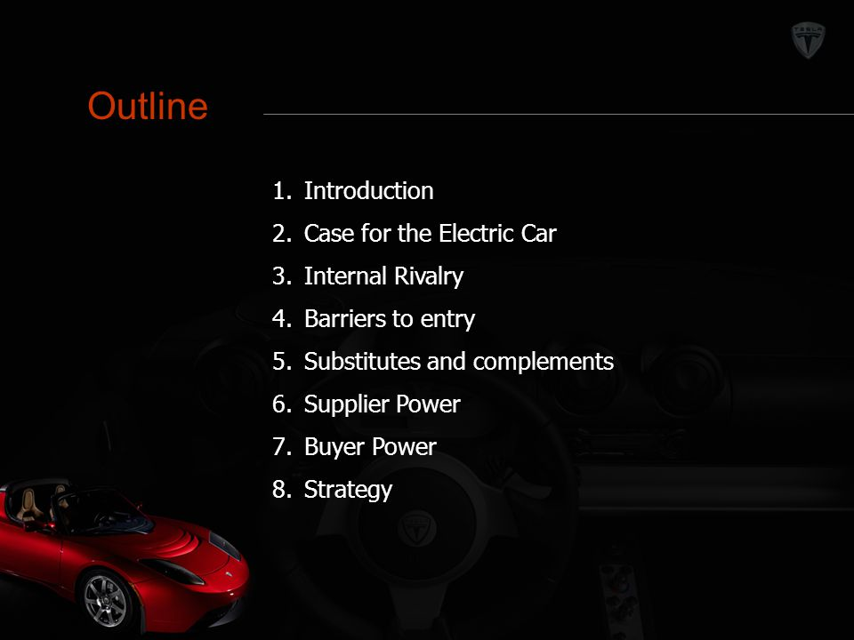 Outline Outline Introduction Case for the Electric Car