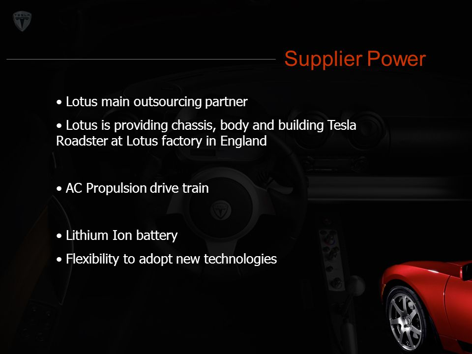 Supplier Power Supplier Power Lotus main outsourcing partner