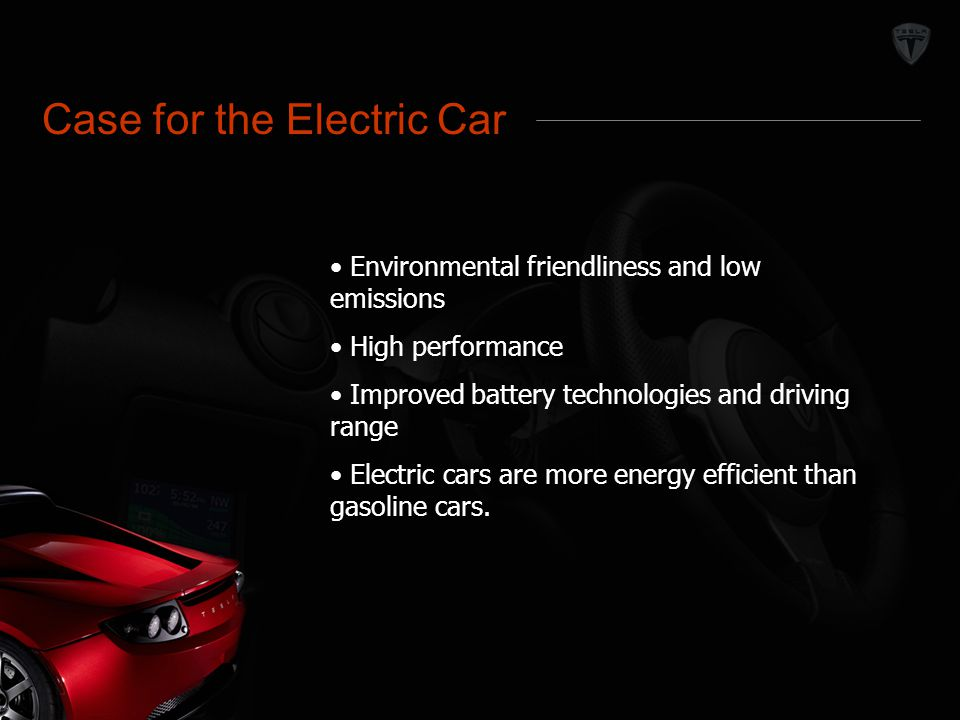 Market Definition Case for the Electric Car