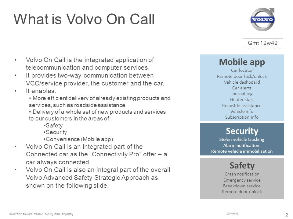 What is Volvo On Call Mobile app Security Safety