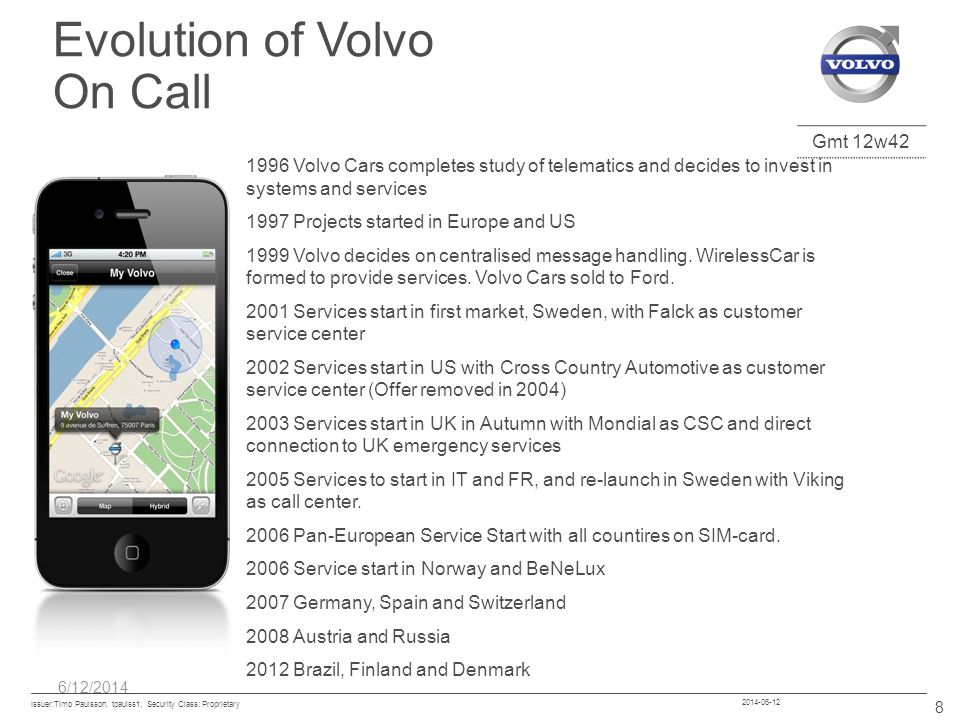 Evolution of Volvo On Call