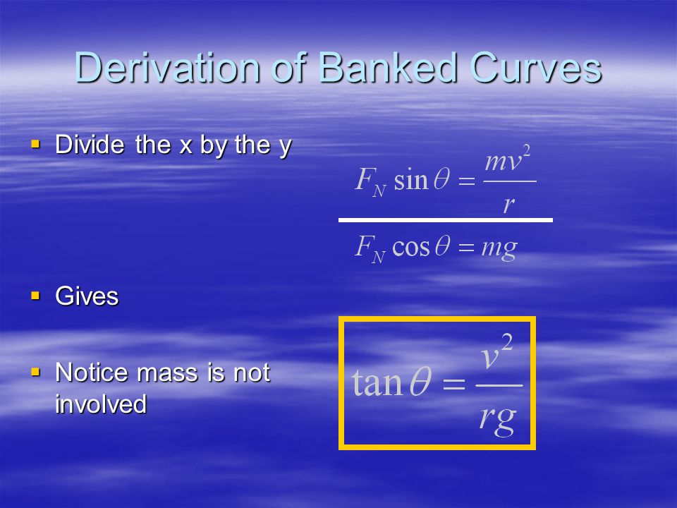 Derivation of Banked Curves