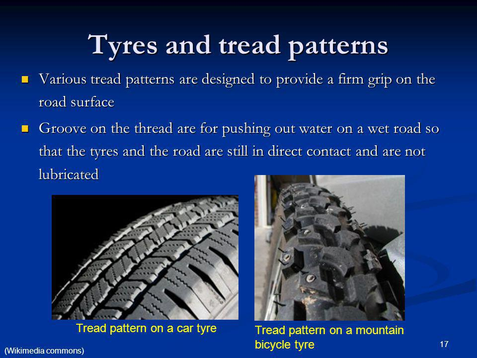 Tyres and tread patterns